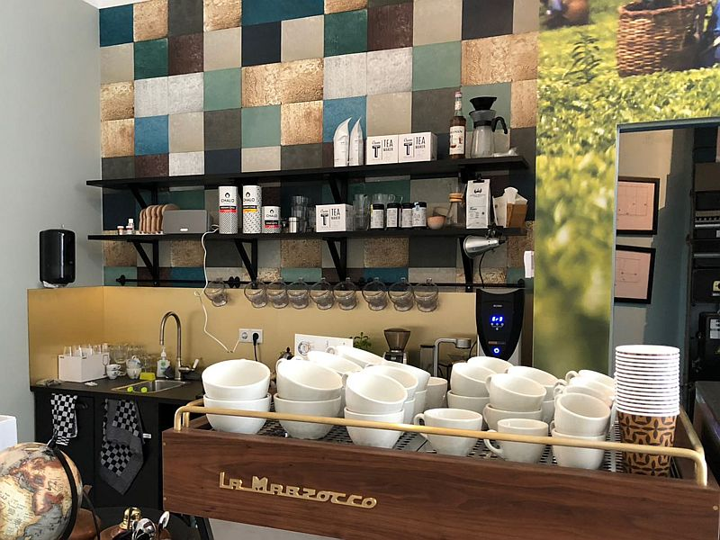 De Marzocco espressomachine van Latte Heart Coffee & Cakes in Schiedam