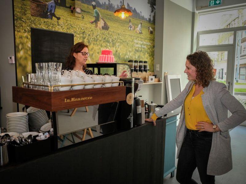 Koffiebar van Latte Heart Coffee Cakes Schiedam