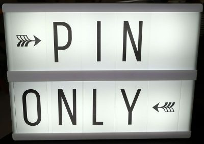 Pin only betalen