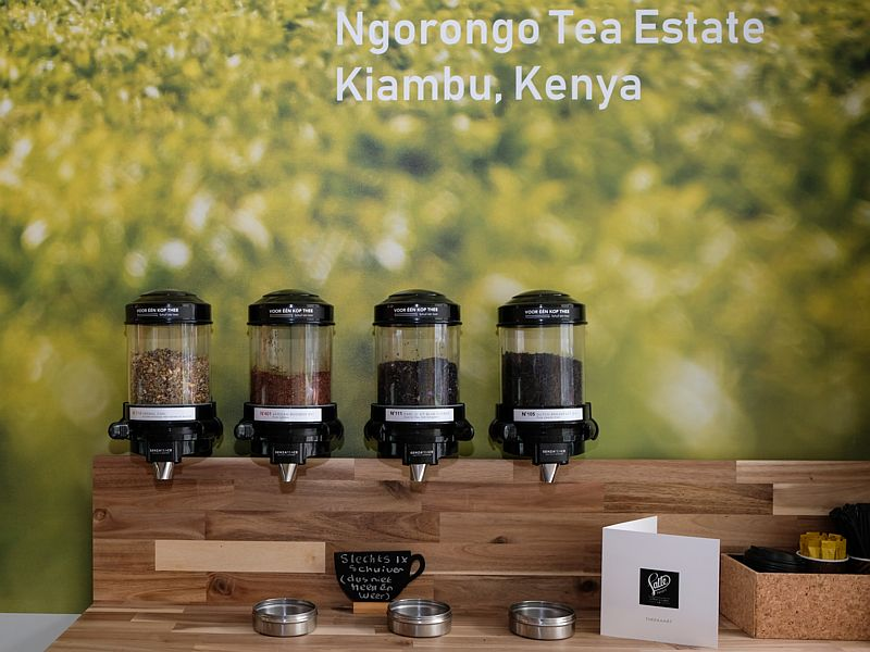 Losse thee van de Ngorongo Tea Estate in Kenia